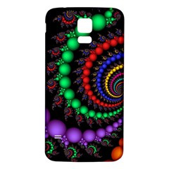 Fractal Background With High Quality Spiral Of Balls On Black Samsung Galaxy S5 Back Case (white)