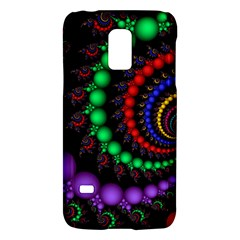 Fractal Background With High Quality Spiral Of Balls On Black Galaxy S5 Mini