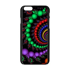 Fractal Background With High Quality Spiral Of Balls On Black Apple Iphone 6/6s Black Enamel Case