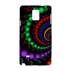 Fractal Background With High Quality Spiral Of Balls On Black Samsung Galaxy Note 4 Hardshell Case