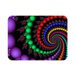 Fractal Background With High Quality Spiral Of Balls On Black Double Sided Flano Blanket (mini)