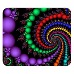 Fractal Background With High Quality Spiral Of Balls On Black Double Sided Flano Blanket (Small)