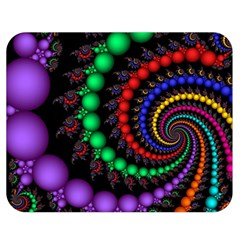 Fractal Background With High Quality Spiral Of Balls On Black Double Sided Flano Blanket (medium)