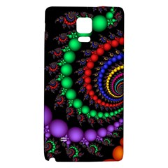 Fractal Background With High Quality Spiral Of Balls On Black Galaxy Note 4 Back Case