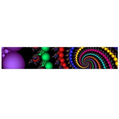 Fractal Background With High Quality Spiral Of Balls On Black Flano Scarf (large)