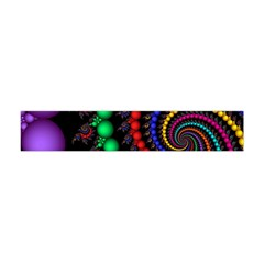 Fractal Background With High Quality Spiral Of Balls On Black Flano Scarf (Mini)