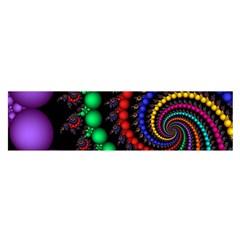 Fractal Background With High Quality Spiral Of Balls On Black Satin Scarf (Oblong)