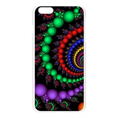 Fractal Background With High Quality Spiral Of Balls On Black Apple Seamless iPhone 6 Plus/6S Plus Case (Transparent)