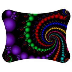 Fractal Background With High Quality Spiral Of Balls On Black Jigsaw Puzzle Photo Stand (bow)