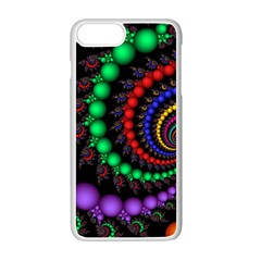 Fractal Background With High Quality Spiral Of Balls On Black Apple Iphone 7 Plus White Seamless Case
