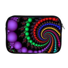 Fractal Background With High Quality Spiral Of Balls On Black Apple Macbook Pro 17  Zipper Case