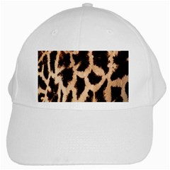 Yellow And Brown Spots On Giraffe Skin Texture White Cap