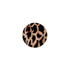Yellow And Brown Spots On Giraffe Skin Texture 1  Mini Buttons