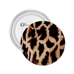 Yellow And Brown Spots On Giraffe Skin Texture 2.25  Buttons