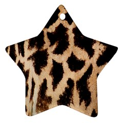 Yellow And Brown Spots On Giraffe Skin Texture Ornament (Star)