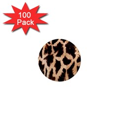 Yellow And Brown Spots On Giraffe Skin Texture 1  Mini Magnets (100 Pack)