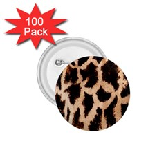 Yellow And Brown Spots On Giraffe Skin Texture 1 75  Buttons (100 Pack)
