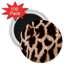 Yellow And Brown Spots On Giraffe Skin Texture 2 25  Magnets (100 Pack)