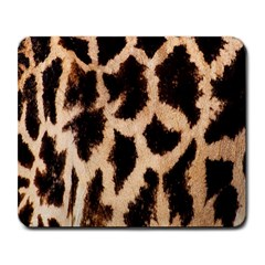 Yellow And Brown Spots On Giraffe Skin Texture Large Mousepads