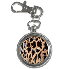 Yellow And Brown Spots On Giraffe Skin Texture Key Chain Watches