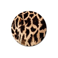 Yellow And Brown Spots On Giraffe Skin Texture Magnet 3  (round)