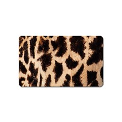Yellow And Brown Spots On Giraffe Skin Texture Magnet (Name Card)