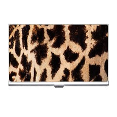 Yellow And Brown Spots On Giraffe Skin Texture Business Card Holders