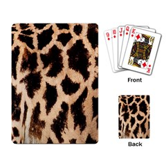 Yellow And Brown Spots On Giraffe Skin Texture Playing Card