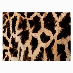 Yellow And Brown Spots On Giraffe Skin Texture Large Glasses Cloth (2 Side)