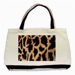 Yellow And Brown Spots On Giraffe Skin Texture Basic Tote Bag (Two Sides)