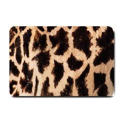 Yellow And Brown Spots On Giraffe Skin Texture Small Doormat