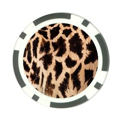 Yellow And Brown Spots On Giraffe Skin Texture Poker Chip Card Guard