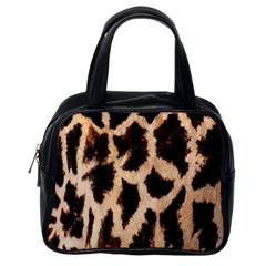Yellow And Brown Spots On Giraffe Skin Texture Classic Handbags (One Side)