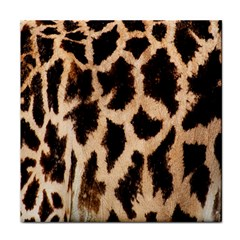 Yellow And Brown Spots On Giraffe Skin Texture Face Towel