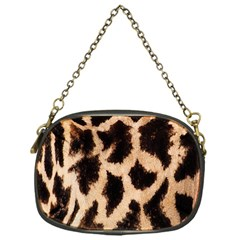 Yellow And Brown Spots On Giraffe Skin Texture Chain Purses (One Side)