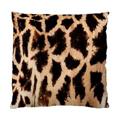 Yellow And Brown Spots On Giraffe Skin Texture Standard Cushion Case (two Sides)