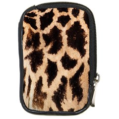 Yellow And Brown Spots On Giraffe Skin Texture Compact Camera Cases