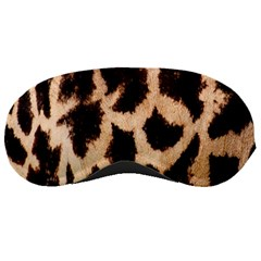 Yellow And Brown Spots On Giraffe Skin Texture Sleeping Masks