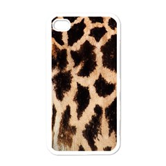 Yellow And Brown Spots On Giraffe Skin Texture Apple Iphone 4 Case (white)