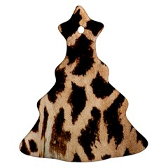 Yellow And Brown Spots On Giraffe Skin Texture Christmas Tree Ornament (two Sides)