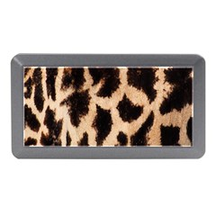 Yellow And Brown Spots On Giraffe Skin Texture Memory Card Reader (Mini)