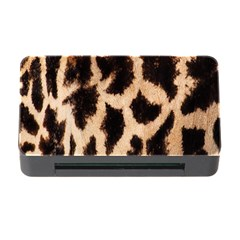 Yellow And Brown Spots On Giraffe Skin Texture Memory Card Reader With Cf