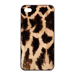 Yellow And Brown Spots On Giraffe Skin Texture Apple Iphone 4/4s Seamless Case (black)