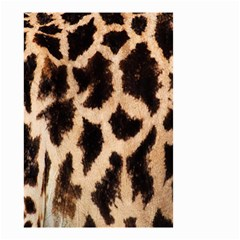 Yellow And Brown Spots On Giraffe Skin Texture Small Garden Flag (two Sides)