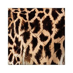 Yellow And Brown Spots On Giraffe Skin Texture Acrylic Tangram Puzzle (6  x 6 )