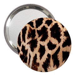 Yellow And Brown Spots On Giraffe Skin Texture 3  Handbag Mirrors