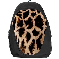 Yellow And Brown Spots On Giraffe Skin Texture Backpack Bag