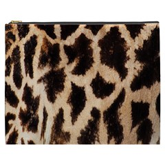 Yellow And Brown Spots On Giraffe Skin Texture Cosmetic Bag (xxxl)