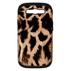 Yellow And Brown Spots On Giraffe Skin Texture Samsung Galaxy S III Hardshell Case (PC+Silicone)