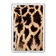 Yellow And Brown Spots On Giraffe Skin Texture Apple Ipad Mini Case (white)